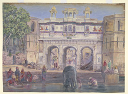 'Water Gate.  Oodipore.  India.  Janr. 1879'